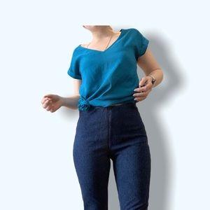 Lysse High waisted Zip-Vent Cropped Denim Leggings